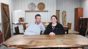 Jason and Sarah Kahn of Creek Road Rustic Furniture