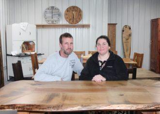 Jason and Sarah Kahn of Creek Road Rustic Furniture